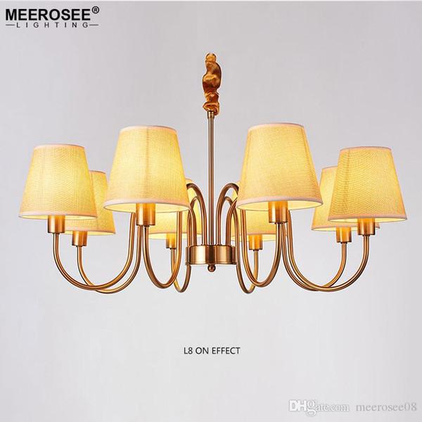 Amerikanischen Landhausstil Kronleuchter Licht Eisen Schmiede Lüster Lampe für Schlafzimmer Esszimmer Hängen Suspension Beleuchtung