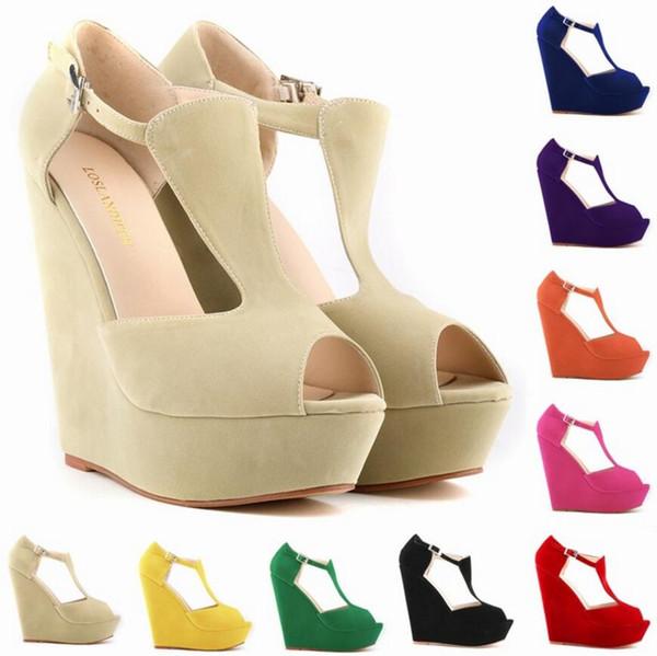 NEW Womens Ladies Platform Peep Wedges Exclusive High Heels Shoes Size ; 35-42 #391-1