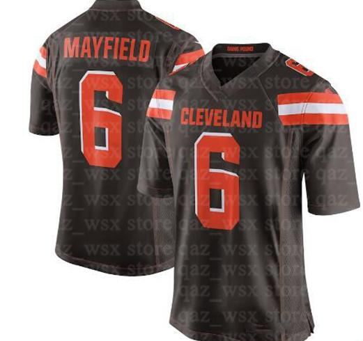 ba4bc87ad Cleveland 6 Baker Mayfield Jersey Browns 21 Denzel Ward 80 Jarvis Landry 22  Jabrill Peppers 5 Tyrod Taylor 95 Myles Garrett
