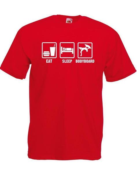 Eat Sleep Bodyboard, camiseta impresa para hombre