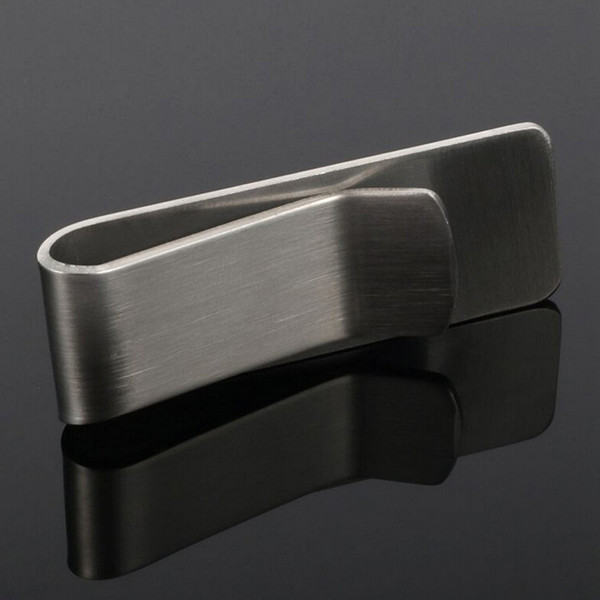2018 New Fashion Men Metal Money Clip Cash Clamp Holder Portable Stainless Steel Money Clip Wallet Purse Pocket Metal
