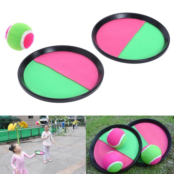3pcs/set Ball Toys Sticky Target Racket Indoor and Outdoor Fun Sports Parent-Child Interactive Throw and Catch Novelty Items