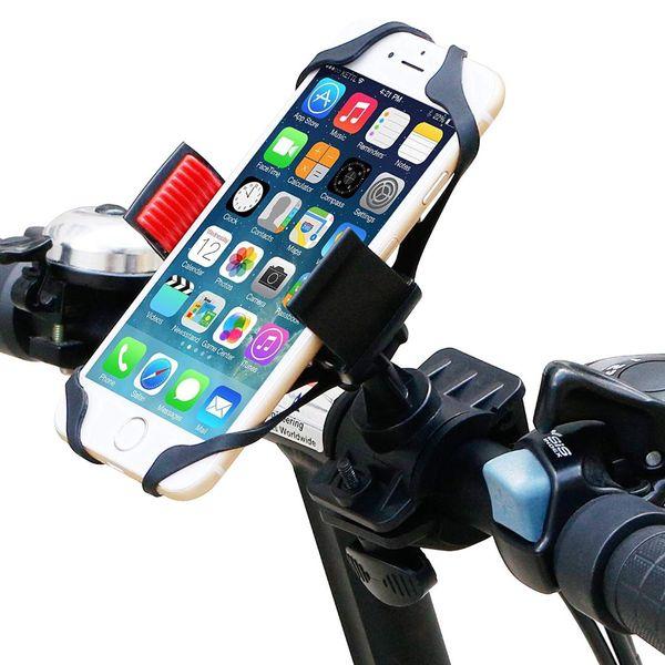 Bike Mount, Universal Cell Phone Bicycle Rack Handlebar & Motorcycle Holder Cradle for iPhone,Samsung,Nexus,HTC,LG,BlackBerry