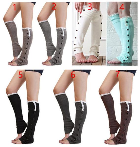 Uzun Fastener Düğme Charm Dantel Çorap Boot Çorap gevşek Çorap Çorap Bacak Isıtıcıları Sonbahar Kış Kadınlar için Chritsmas Hediyeler Drop Shipping