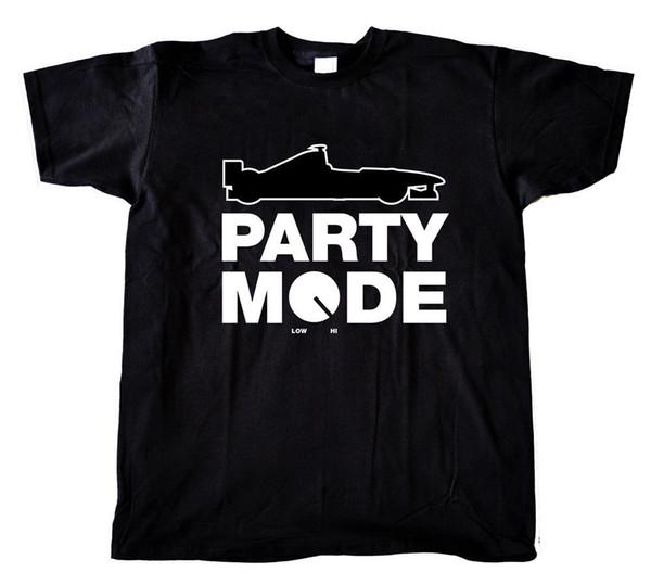 F1 Party Mode t-shirt - Lewis Hamilton Red-Bull Seb Vettel Kimi Cotton T-Shirt Fashion T Shirt top tee