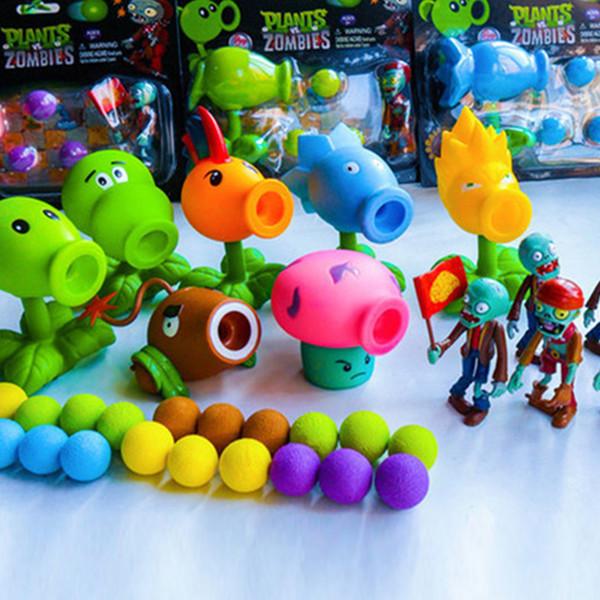 El juego caliente PVZ Plants vs Zombies Vinyl puede lanzar juguetes divertidos para niños Regalos de Navidad 9 modelos se pueden mezclar por lotes en envases blister solo