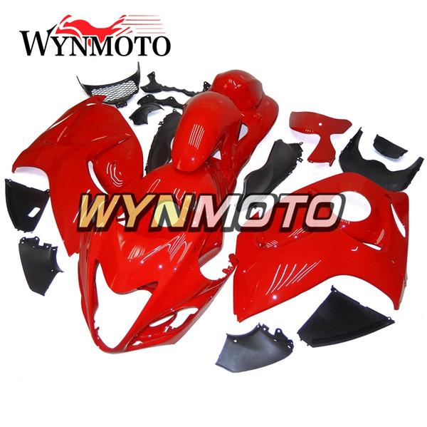 Carenados completos para Suzuki GSXR1300 Hayabusa 2008-2016 08 09 10 11 12 13 14 15 16 Kit de carrocería de inyección Carenado de motocicleta Revestimiento Pure Matte Red