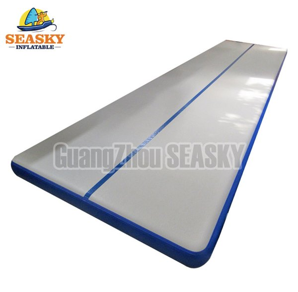 Top Quality Blue 6x2x0.2m Inflatable grey Air Track Inflatable Tumble Track Inflatable AirTrack For Sale
