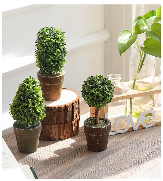 Großhandel Freies Verschiffen 1 Satz 3 Botton Mini Künstliche Pflanze Decor  Dekorative Topfpflanze Für Wohnzimmer Home Office Groß Und Einzelhandel ...