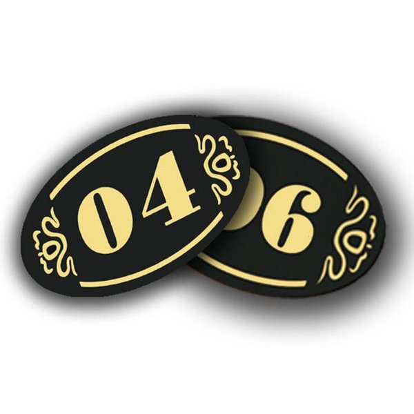 5 * 8 cm Acrílico Loja Hotel Placa de Sinal de Mesa de Entrada Do Armário de Armazenamento de Placa de Sinal de Número de Etiqueta Do Partido DIY decoração