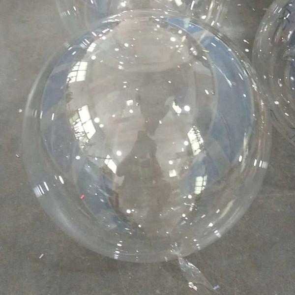 Transparent Bobo Ballons Pour La Décoration De Noce Ballons Gonflables Circulaire Clair De Noël Halloween Décoration Enfants Cadeaux HH7-1788