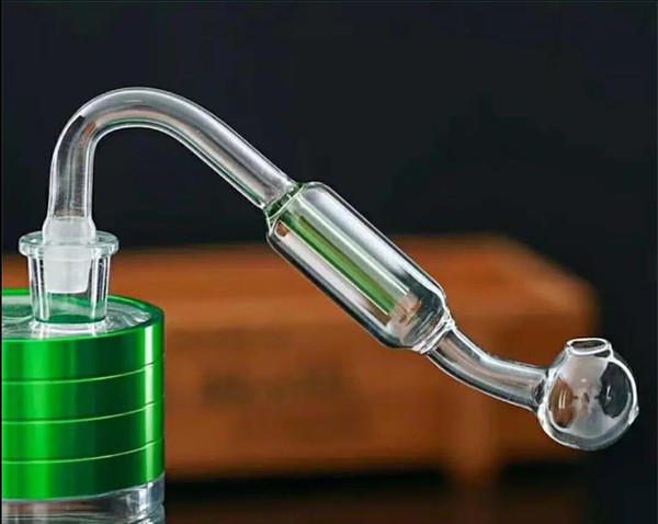 Double filter glass board Wholesale bongs Oil Burner Pipes Water Pipes Glass Pipe Oil Rigs Smoking, Free Shipping