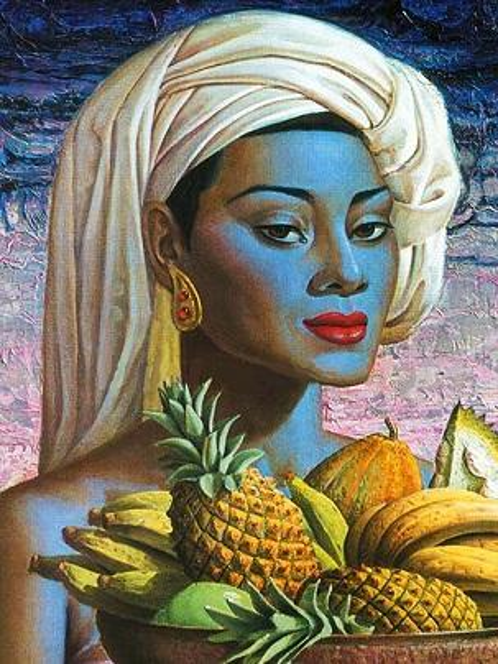 Multi Custom Sizes /Frame Available Vladimir Tretchikoff Handpainted / HD Print Fruits of Bali FINE Art Oil Painting On Canvas P142