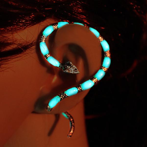 The snake Ear Cuff cobra Ear Cuff GLOW in the DARK Naja naja atra Ear clip earrings Stud Earrings Clip Earrings WOMEN girls gift