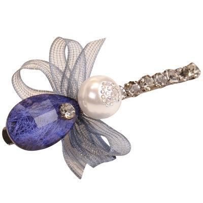 Элегантный алмазный бур шпилька моды имитация жемчужина лук зажим для галстука