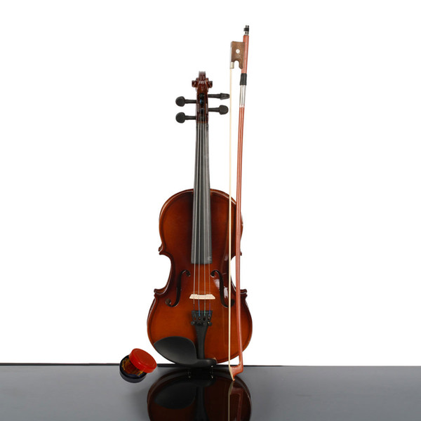 top popular New Acoustic Violin 1 4 Size Natural Color with Case+ Bow + Rosin for 5-7 years old Kids 2021