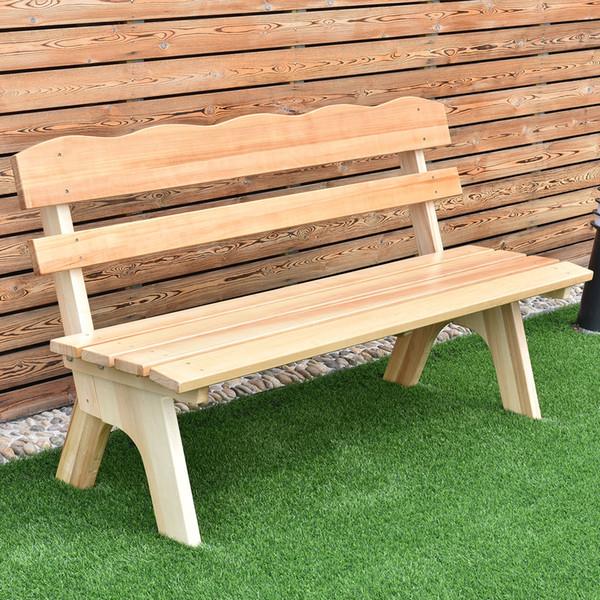 5 pi 3 Sièges d'extérieur Banc de jardin en bois Chaise Cadre en bois Meubles de jardin de plate-forme