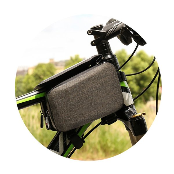Phone Touch Screen Mountain Bike Frame Front Bags Full Rainproof Nylon Bag for Bicycle Cycling