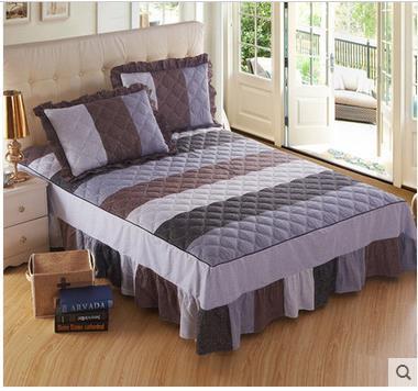 Peça de cama de algodão acolchoado O menino de algodão duplo espessamento de três peças suitSpringAutumn