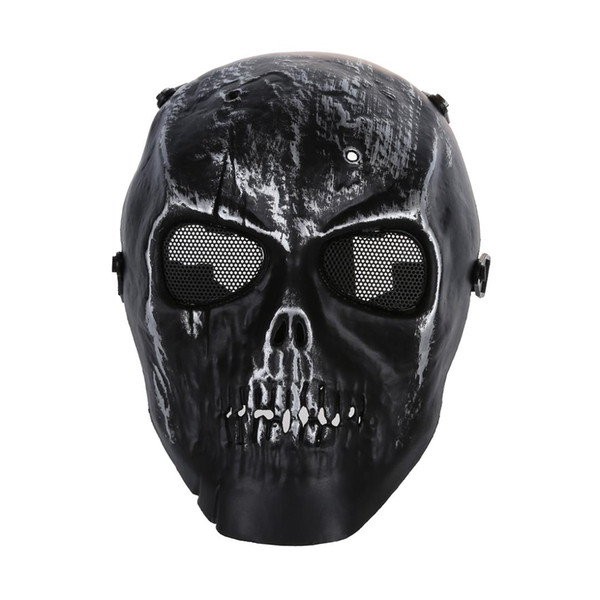 Skull Skeleton Paintball Máscara de protección facial completa