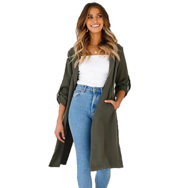 Pink Trench Coat for Women Clothes 2018 Duster Coat Women Windbreaker Runway Fall 2018 Streetwear Tunic 90s Long New
