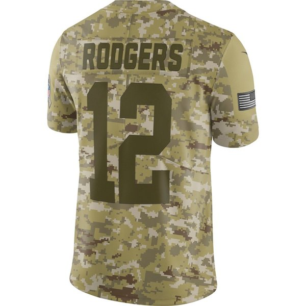 half off 95d5e 742e8 2019 Camo Jersey Custom Salute To Service Limited American Football Jerseys  Green Bay Packers Aaron Rodgers Chicago Bears Factory Shirts 4xl NFC From  ...