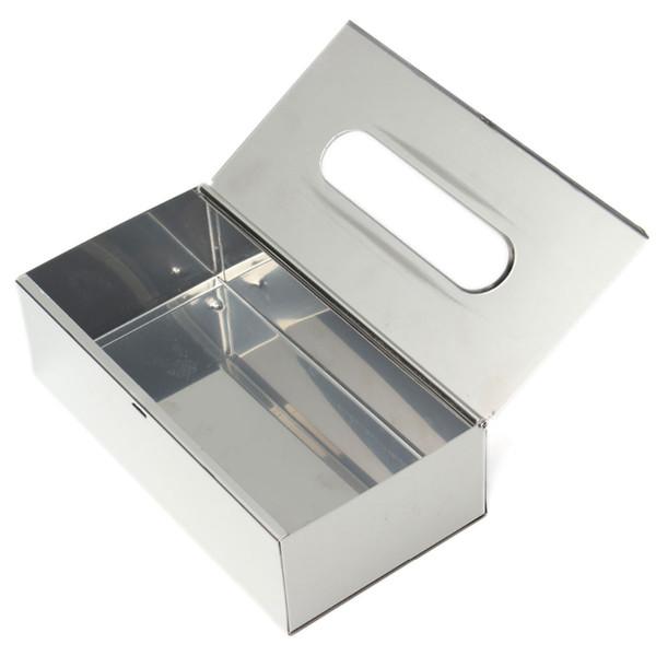 Bath Stainless Steel Kleenex Dispenser Tissue Box Cover Holder Sleek Modern