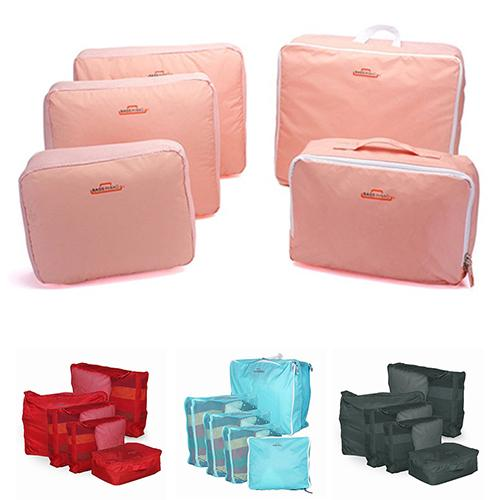 5pcs In One Set Large Travelling Storage Bag Luggage Clothes Tidy Organizer Pouch Suitcase Cosmetiquera Bolso Cosmetic Bag