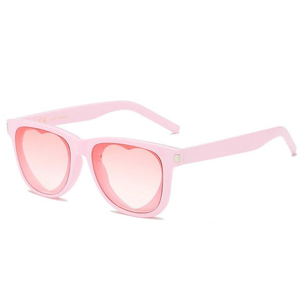 18a6f182095 love heart Party sunglasses women cat vintage Christmas gift black pink red  heart shape sun glasses for women uv female shadesNX