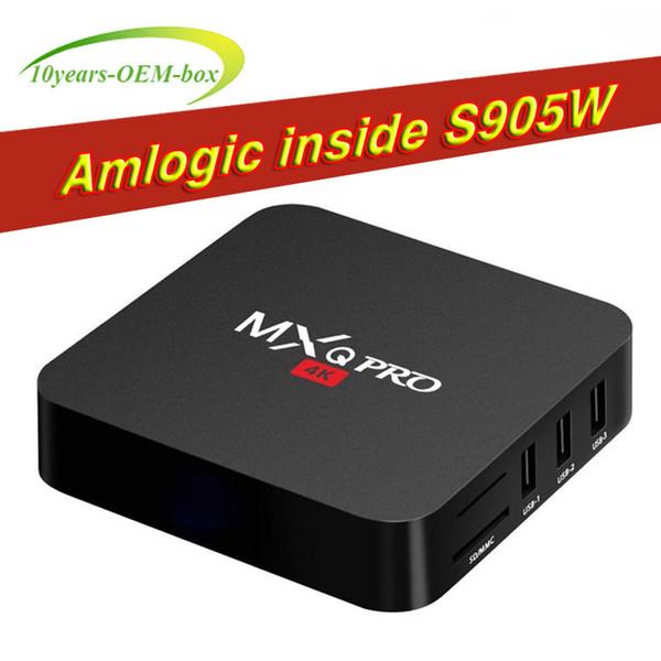 MXQ Pro Android 7.1 TV Box Amlogic S905W / RK3229 1GB 8GB 4K Quad Core WiFi Streaming Media Player Smart Boxes Better TX3 x96 mini