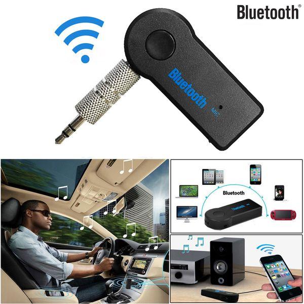 Inalámbrico Bluetooth 3.5mm AUX Audio Estéreo Música Inicio Coche Receptor Adaptador Mic Chip AMP de alto rendimiento v3.0 EDR Clase 2 8Z