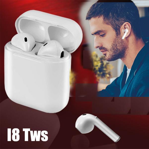Cuffie senza fili Bluetooth i8 TWS Twins Cuffie auricolari con microfono Stereo nell'orecchio 4.0versione musica stereo per iphone samsung con l'imballaggio