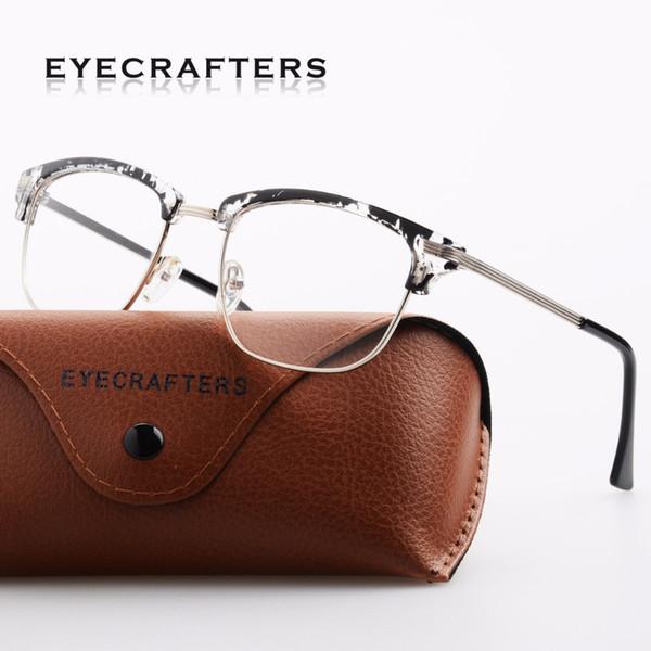 Occhiali da vista da donna con montatura per occhiali da vista, mezza montatura da uomo