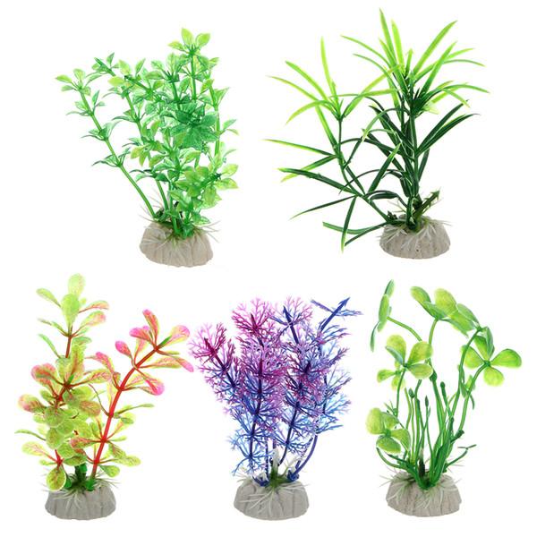 Großhandelsneu !!!! Viele 30 STÜCKE Künstliche Grüne Gras Wasser Unkraut Ornament Unterwasser Pflanzen Aquarium Dekoration Aquarium