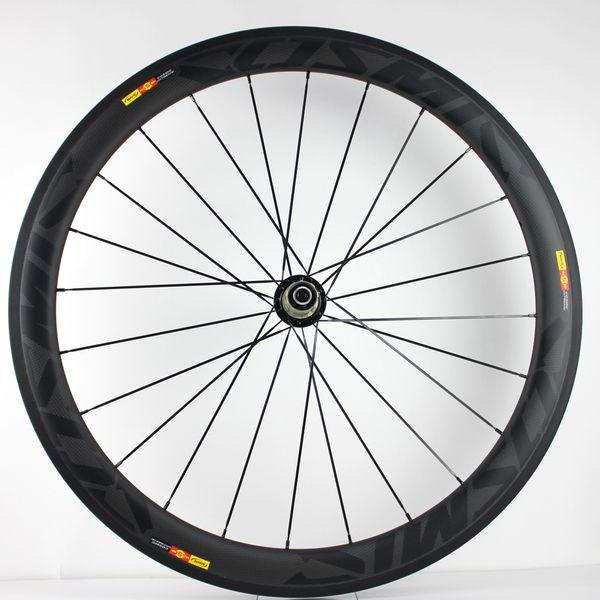 Lightweight Oem Custom Carbon Fiber 50mm Clincher Road Racing Bike 700C Rims Wheel Set Aero Bicycle Wheels