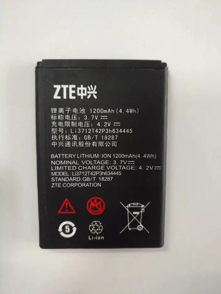 best selling Battery For ZTE V185W G 3.7V 1200mAh High Quality Li-ion Replacement Batteries For ZTE L530G battery Li3712742P3h634445 akku