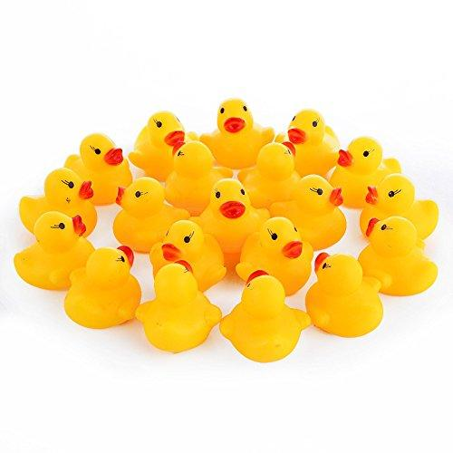 top popular Wholesale Safety Baby Bath Water Toy Floating Yellow Rubber Ducks Kids Toys Cute Swimming Duck Toy Shower Beach Play Set WT001 2019