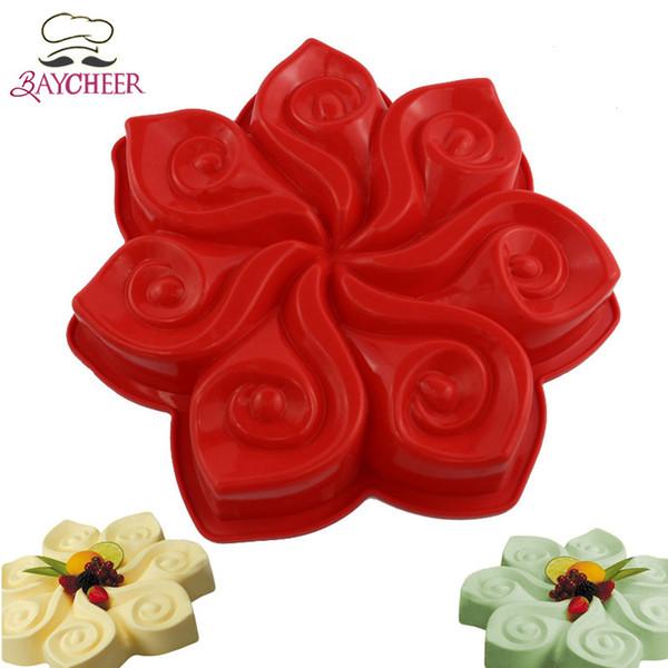 1 PCS antiaderente padaria forma de flor ferramentas de decoração do bolo food-grade molde de silicone assando bolo panelas de cozinha suprimentos de jantar