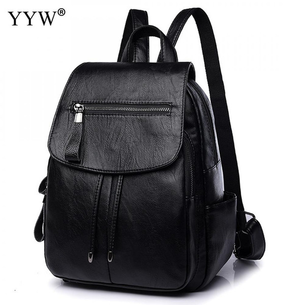 High Quality Women Backpack Pu Leather Laptop Backpack Female Zipper School Back Bag For Children A Case For Phone Purse