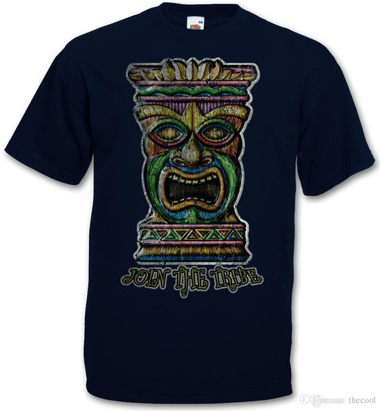 TIKI KAFA II T-SHIRT-Hawaii Dövme Rockabilly Özel Üst teeobilly Hot Rod Gömlek