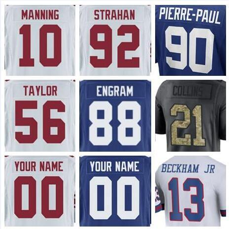 promo code 68706 67662 2019 2018 New York Saquon Barkley Giants Jersey Custom Odell Beckham Jr  Sterling Shepard Authentic Sports Youth Kids American Football Jerseys From  ...