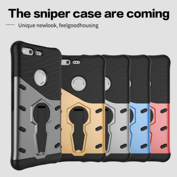 Free Shipping Sniper Kickstand Case for Google Pixel 5.0inch Pixel XL 5.5inch Cell Phone Back Cover