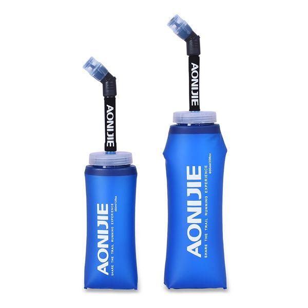 top popular AONIJIE 250 350 500 600ml Water Bottle Hydration Bag Sport BPA Free Soft Running Water Bottle Soft Hiking Flask Hydration 2019