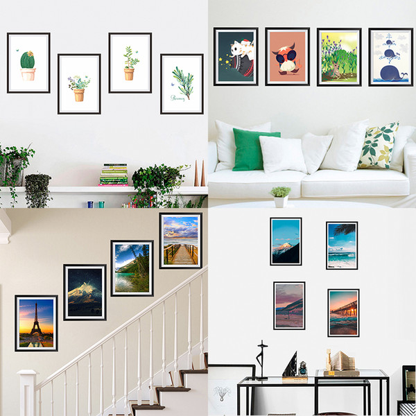 Landscape Photos Frame Decorative Wall Stickers Living Room Bedroom  Decorations Home DIY Decor Mural Wall PVC Art Modern Decals Decorative Wall  Decals ...