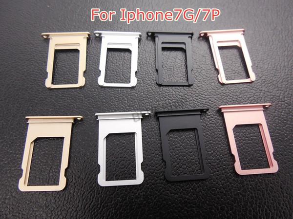 Alüminyum Nano SIM Kart Tepsi Tutucu Yuvası iphone 5 5 S 6 6 P 6 s Artı 7 8 artı