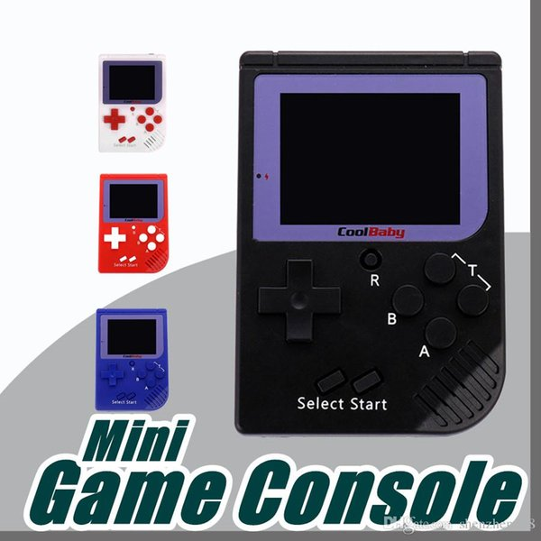 top popular CoolBaby RS-6 Portable Retro Mini Handheld Game Console 8 bit Color LCD Game Player For FC Game free DHL A-ZY 2019