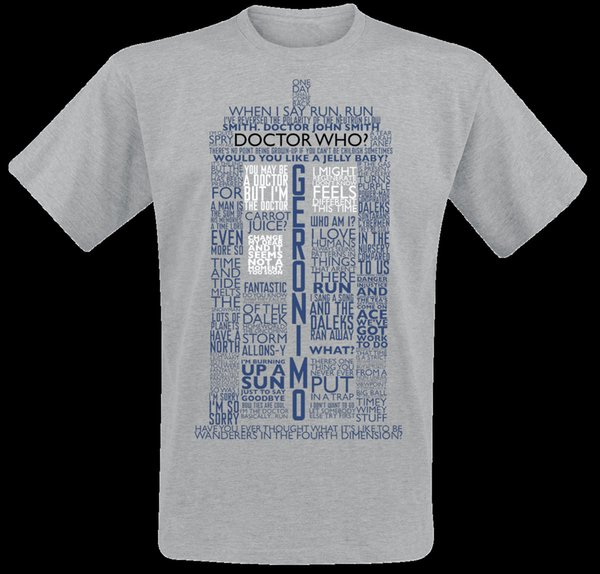 compre doctor who tardis quotes camiseta moteado gris classic