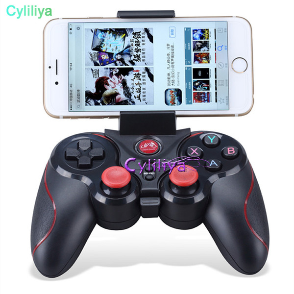 DHL 20pcs S5 Bluetooth Wireless Game Controller Gamepad Joystick for IOS iPhone iPad Android Smart Phone Smart TV VR Box E-JYP