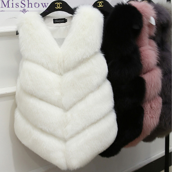 New Winter Warm Vest Fashion Women Import Coat luxury Fur Vest High-Grade Faux fox Fur Coat Fox women Plus Size 2XL 3XL