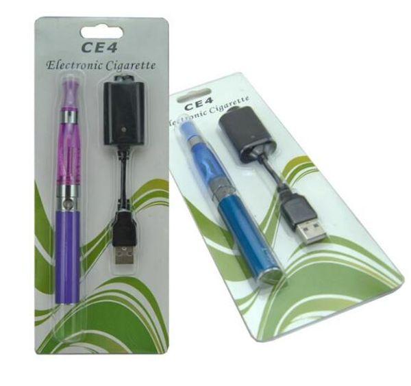 Ego-t Ce4 Blister single kits e cig 650mah 900mah 1100mah Ego battery USB Charger Ce4 atomizer Vaporizer E cigarette Vape Pen Starter Kits